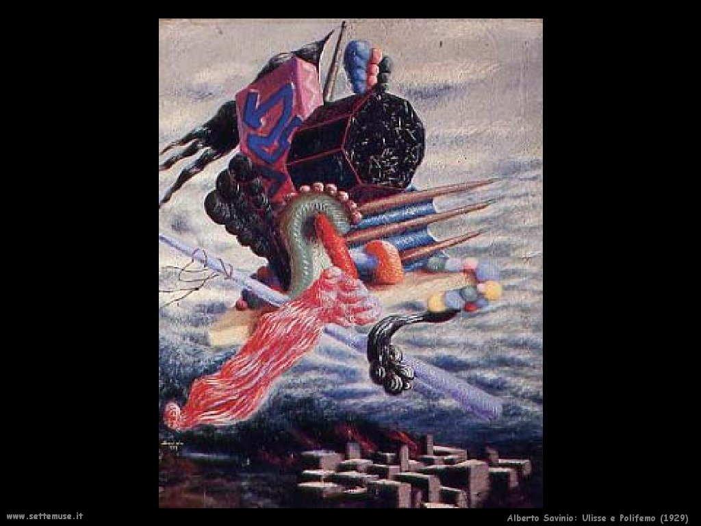 Alberto Savinio Ulisse e Polifemo 1929