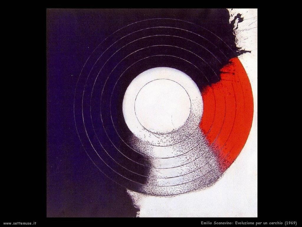 Emilio Scanavino Evoluzione per un cerchio (1969)