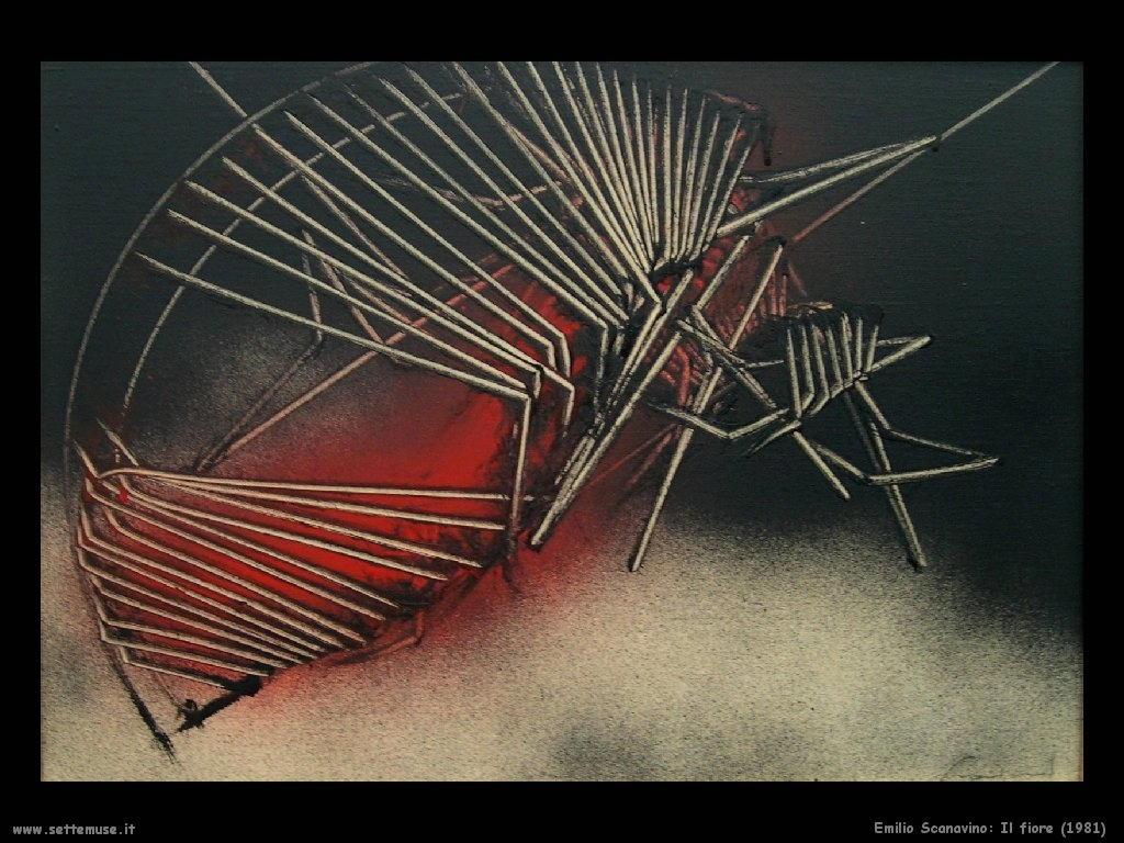 Emilio Scanavino Il fiore (1981)