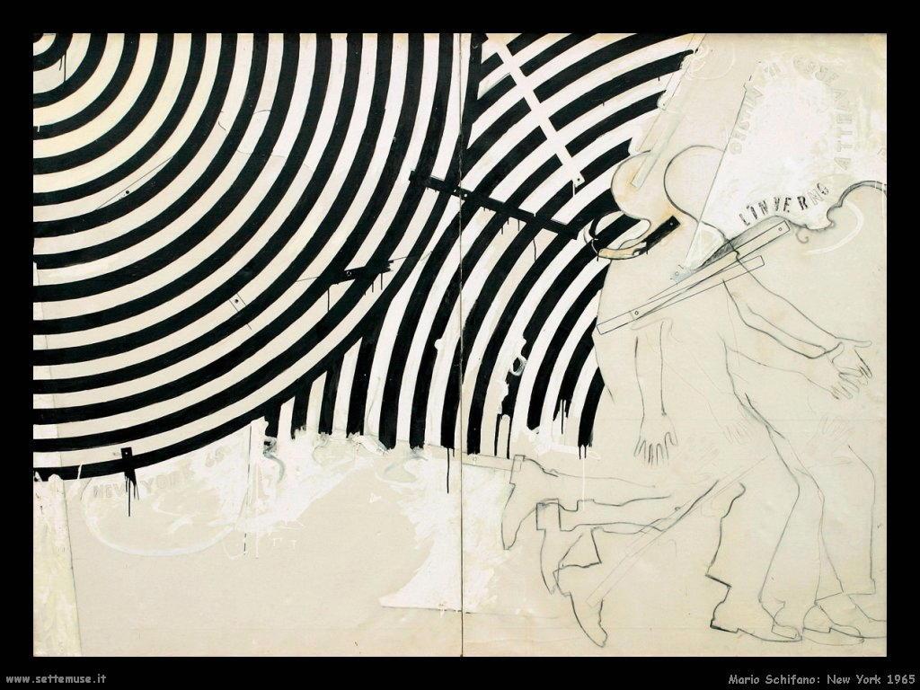 mario schifano New York (1965)