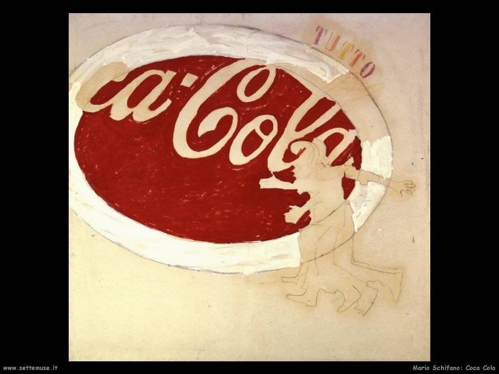 mario schifano Coca Cola