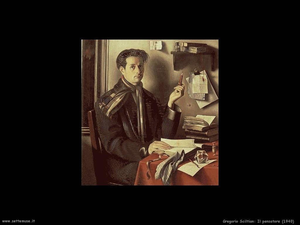 Gregorio Sciltian Il pensatore (1940)