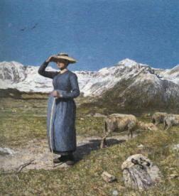 Quadro Segantini  Mezzogiorno sulle alpi 1891