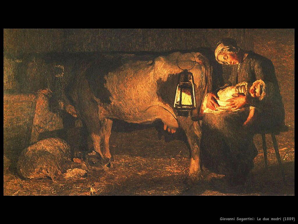 giovanni segantini Le due madri (1889)