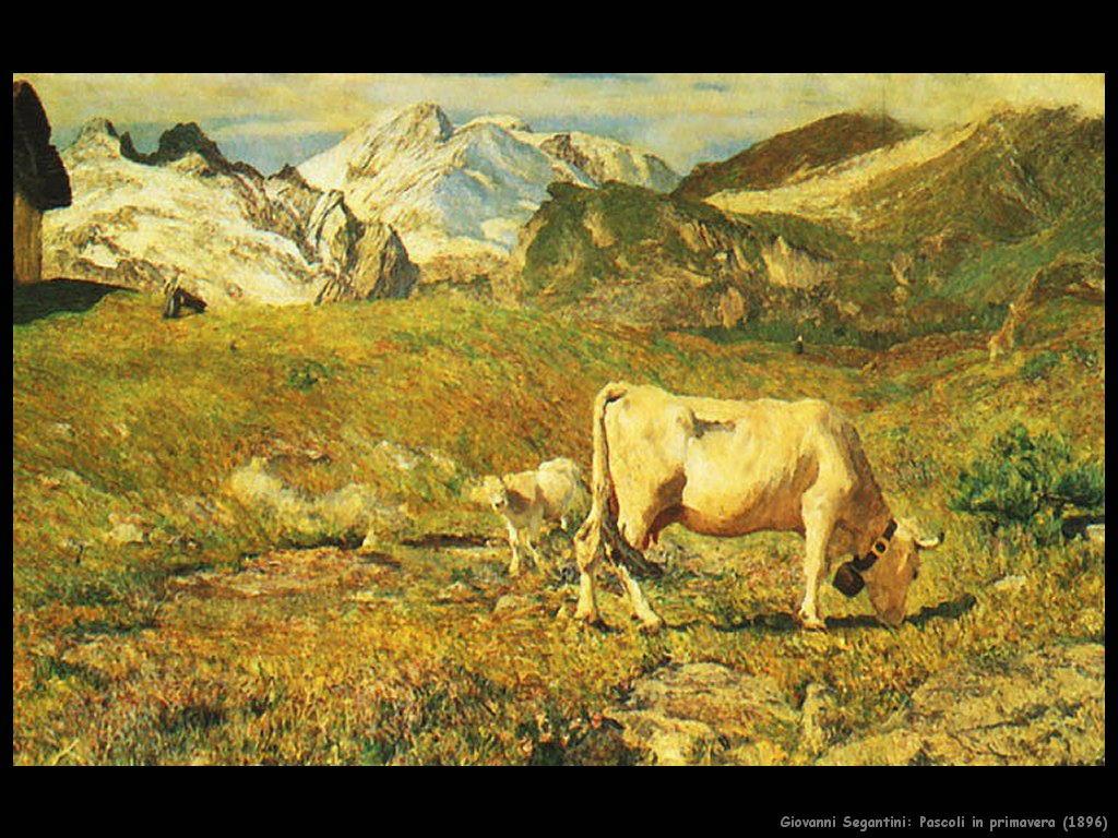 giovanni segantini Pascoli in primavera (1896)