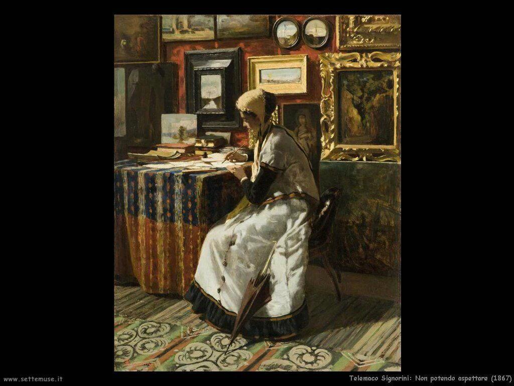 telemaco signorini Non potendo aspettare (1867)