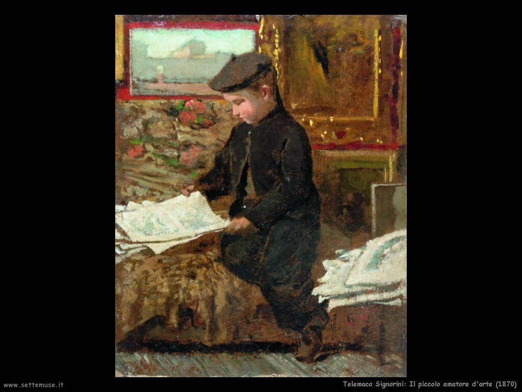 telemaco signorini Il piccolo amatore d'arte (1870)