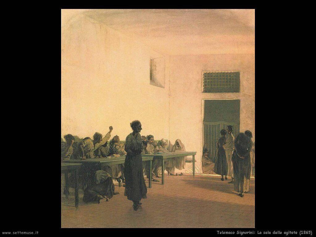 telemaco signorini La sala delle agitate (1865)