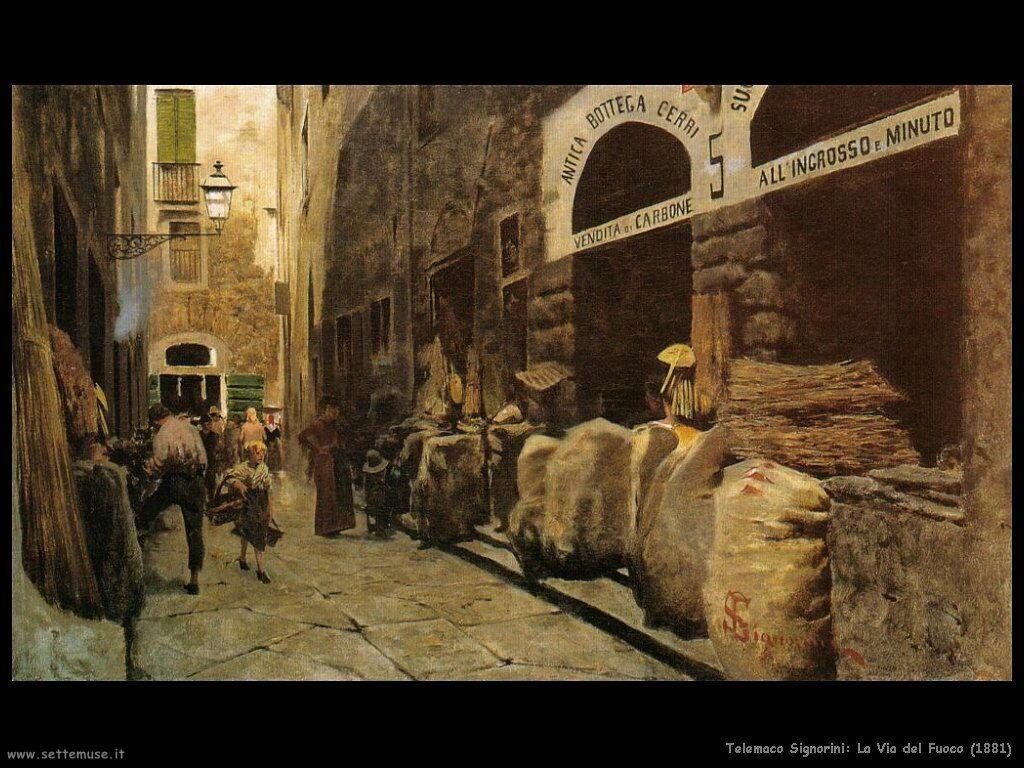 telemaco signorini La Via del Fuoco (1881)