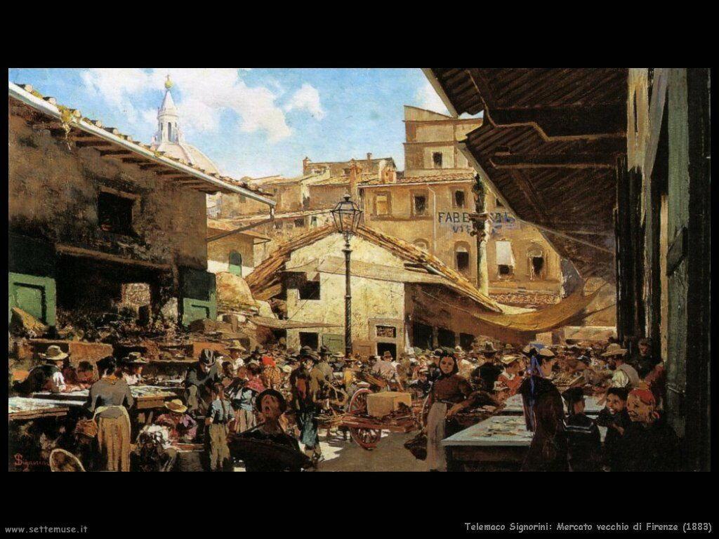 telemaco signorini Mercato vecchio a Firenze (1883)