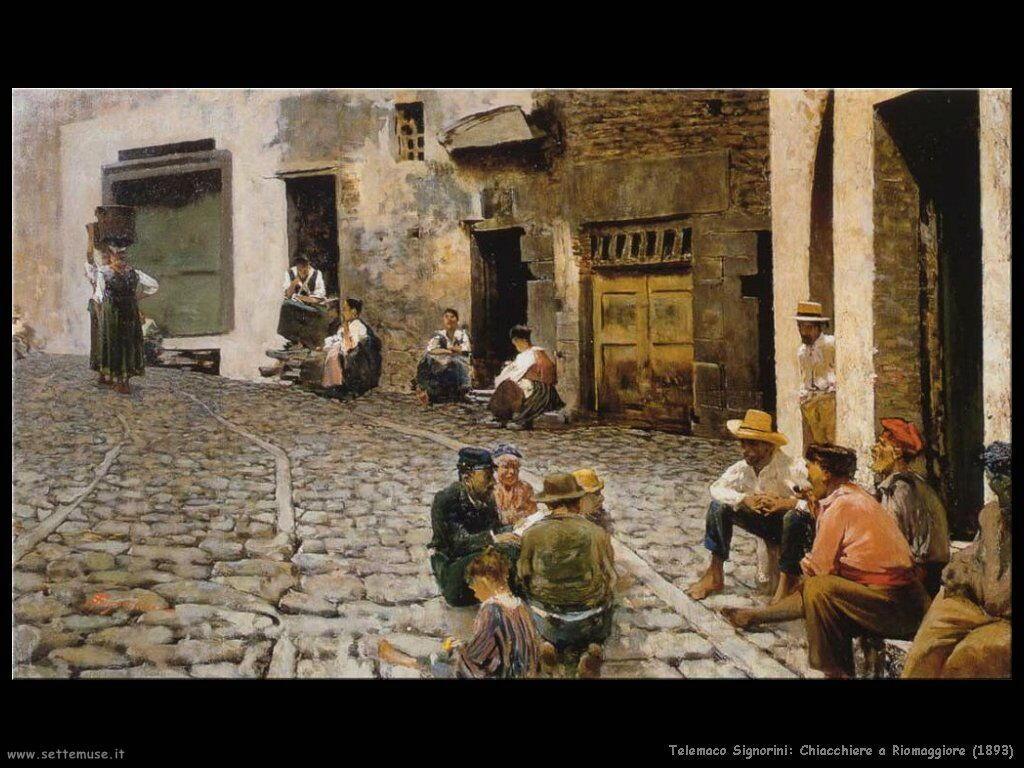 telemaco signorini Chiacchiere a Riomaggiore (1893)