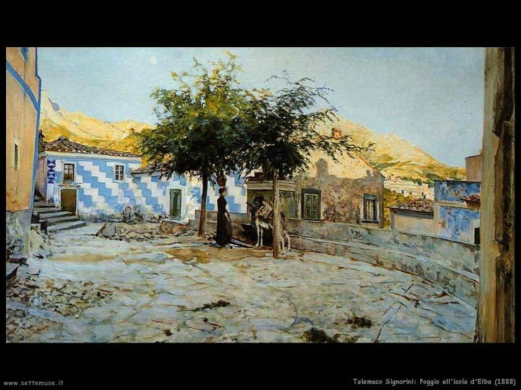 telemaco signorini Poggio all'isola d'Elba (1888)