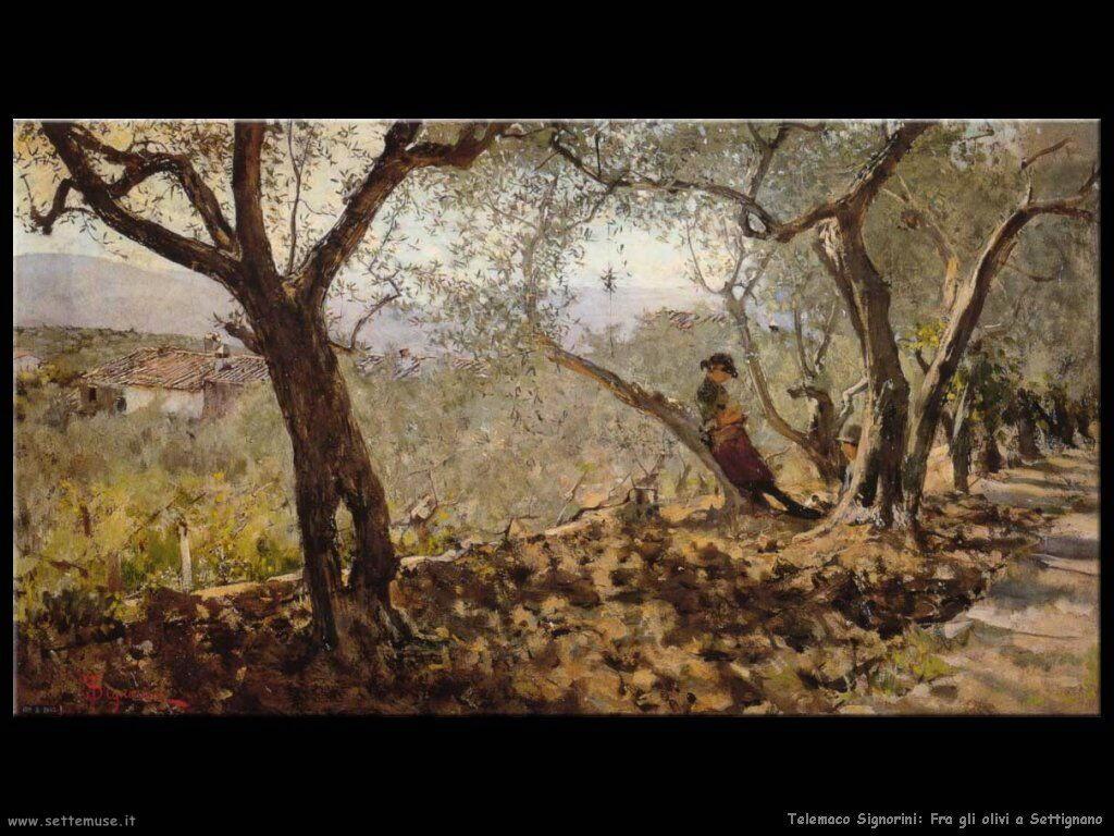 telemaco signorini Fra gli olivi di Settignano