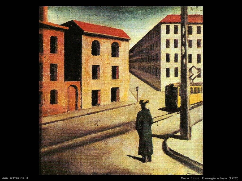 Mario Sironi Paesaggio urbano (1922)
