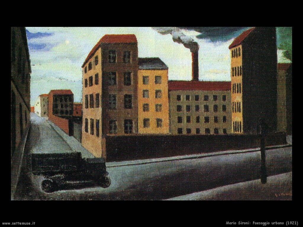 Mario Sironi Paesaggio urbano (1921)