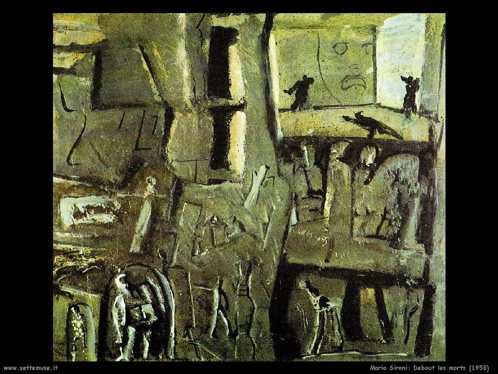 Mario Sironi Debout les morts (1958)
