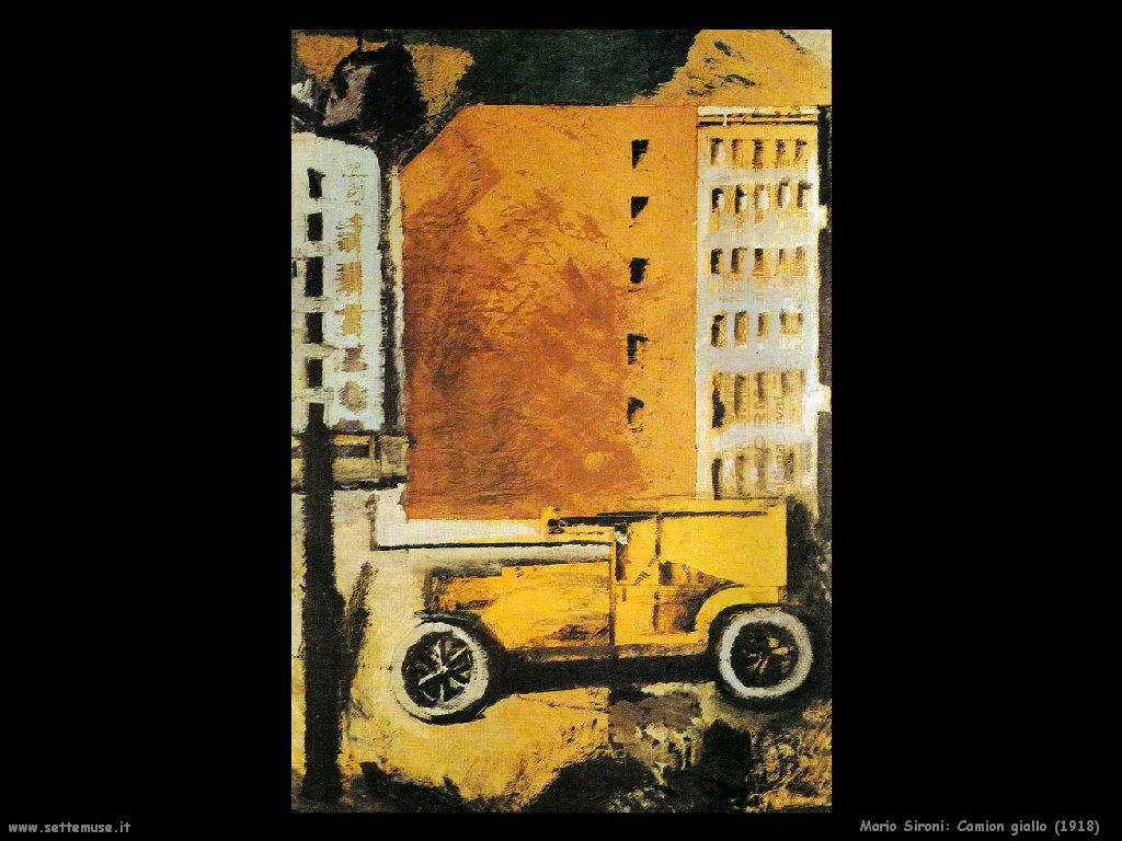Mario Sironi Camion giallo (1918)