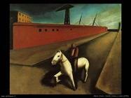 Mario Sironi Cavallo bianco e molo (1920)