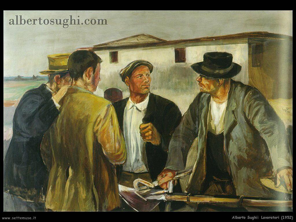 alberto sughi Lavoratori (1952)