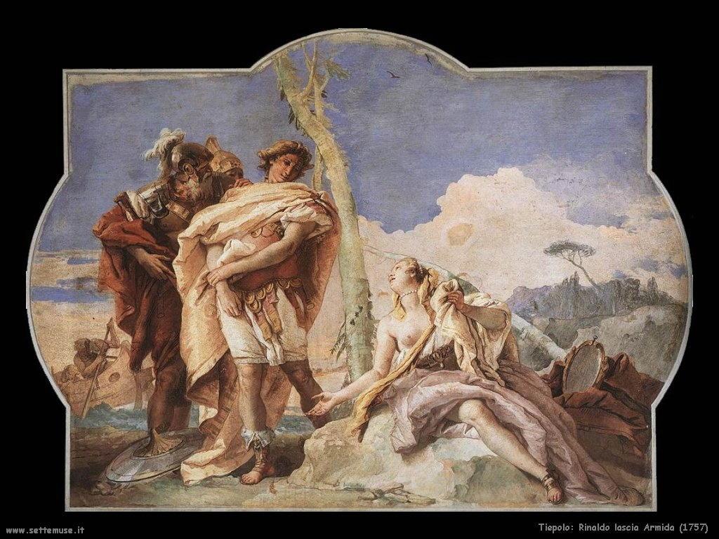 Giambattista Tiepolo Rinaldo lascia Armida (1757)