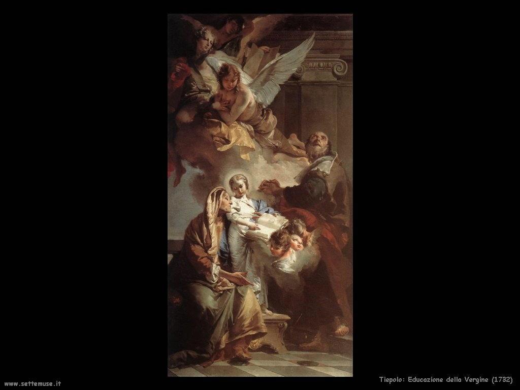 Giambattista Tiepolo Educazione della Vergine (1732)