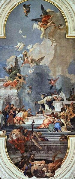 Affresco di Giandomenico Tiepolo