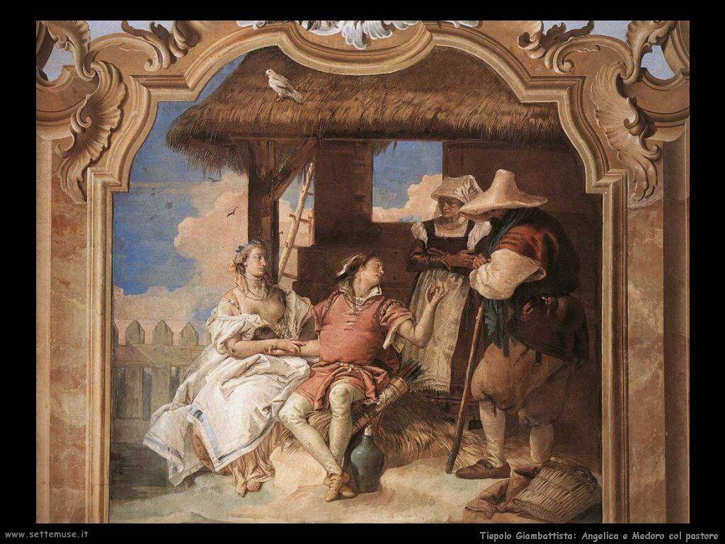 Angelica e Medoro col pastore