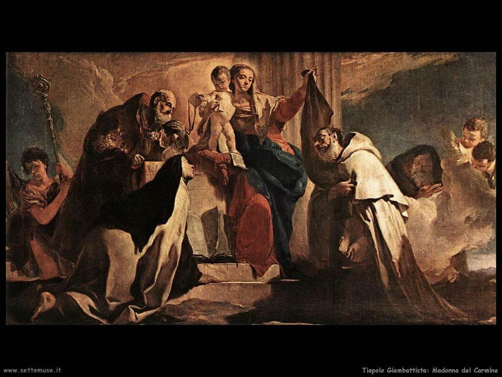 Giambattista Tiepolo madonna del carmine
