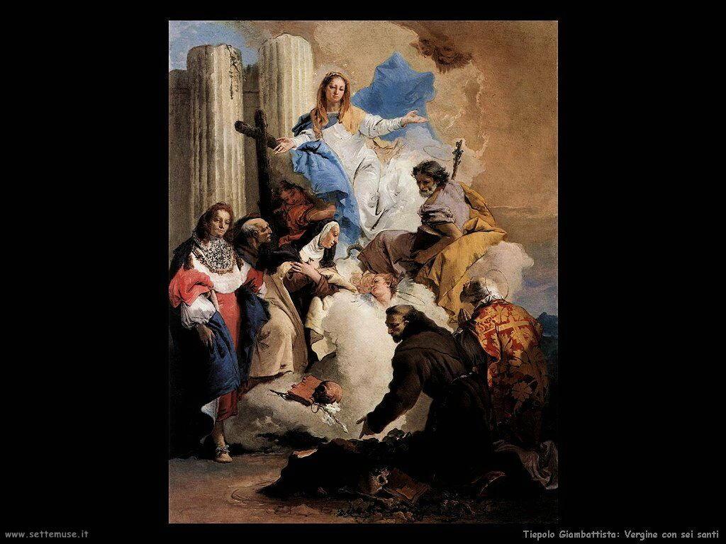 La Vergine con sei santi