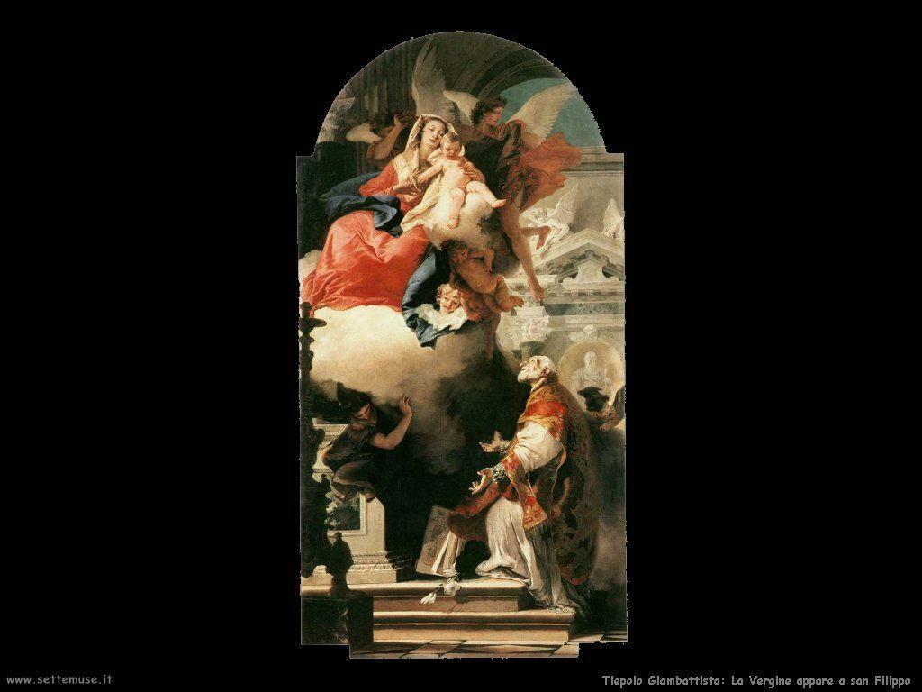La Vergine appare a san Filippo