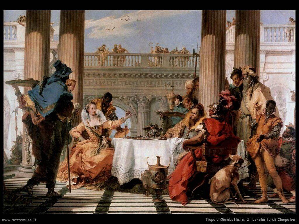 Il banchetto di Cleopatra