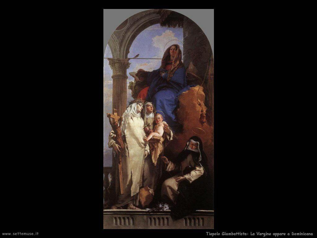 La Vergine appare a san Domenico