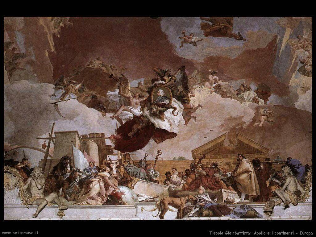 Tiepolo Apollo e i continenti Europa