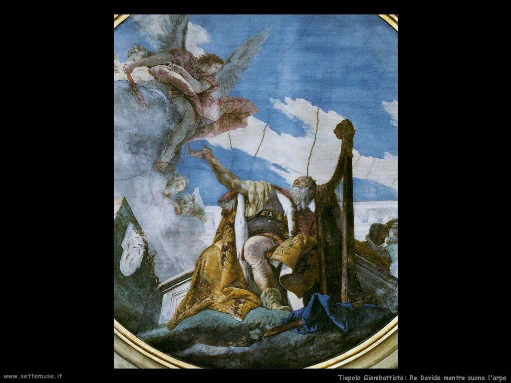 Re Davide mentre suona l'arpa