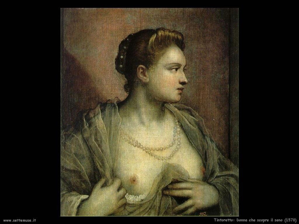 Tintoretto Donna che scopre il seno (1570)