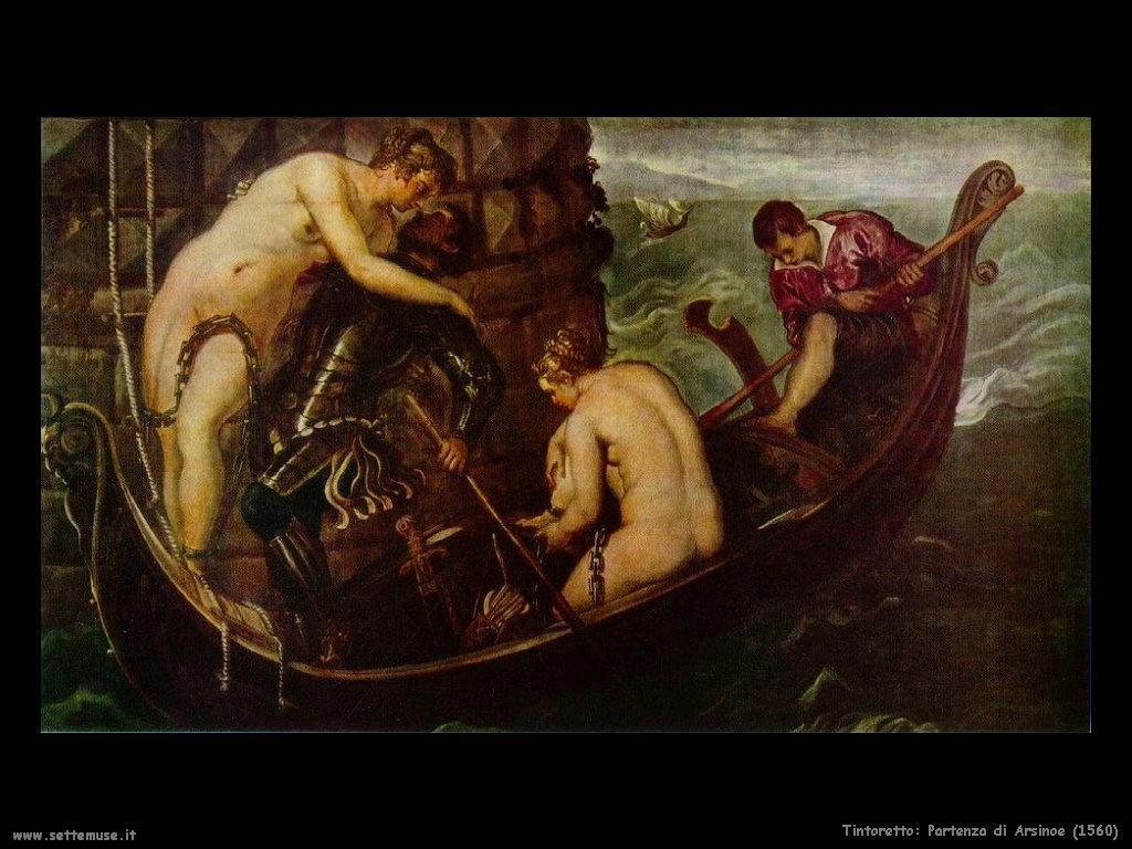 Tintoretto Partenza di Arsinoe (1560)