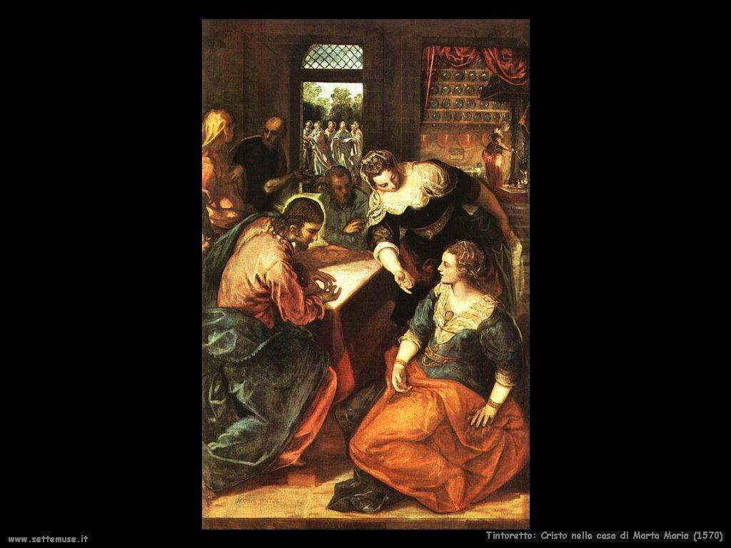 Tintoretto Cristo nella casa di Marta Maria (1570)