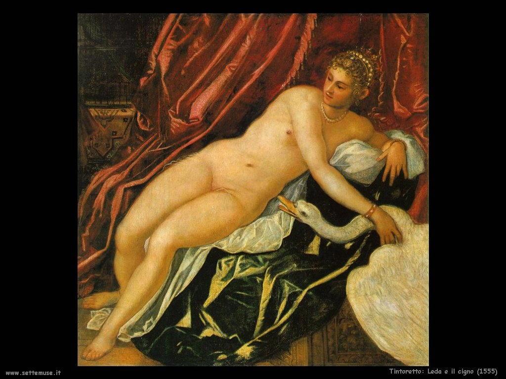 Tintoretto Leda e il cigno (1555)