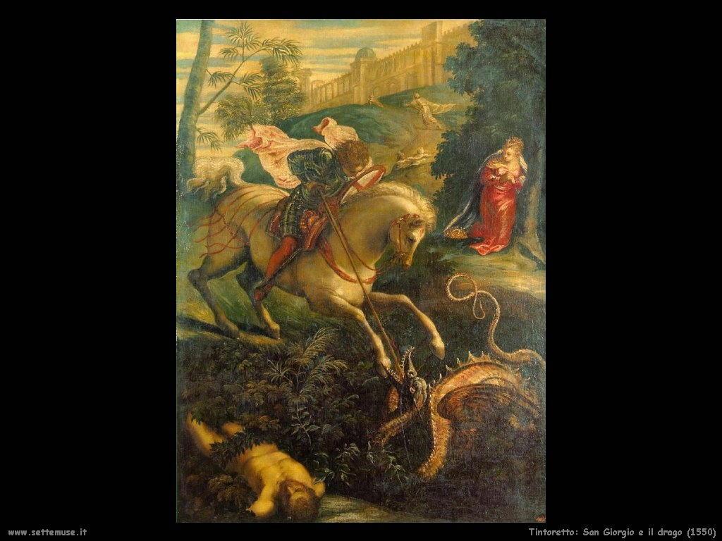 Tintoretto San Giorgio e il drago (1550)