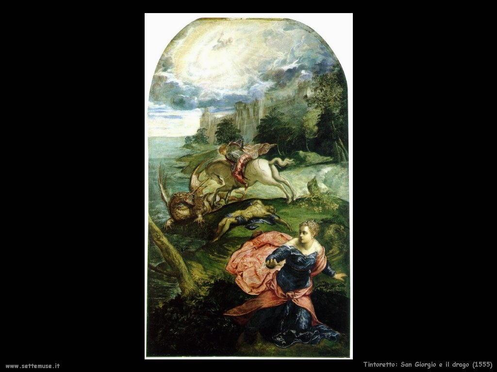 Tintoretto San Giorgio e il drago (1555)