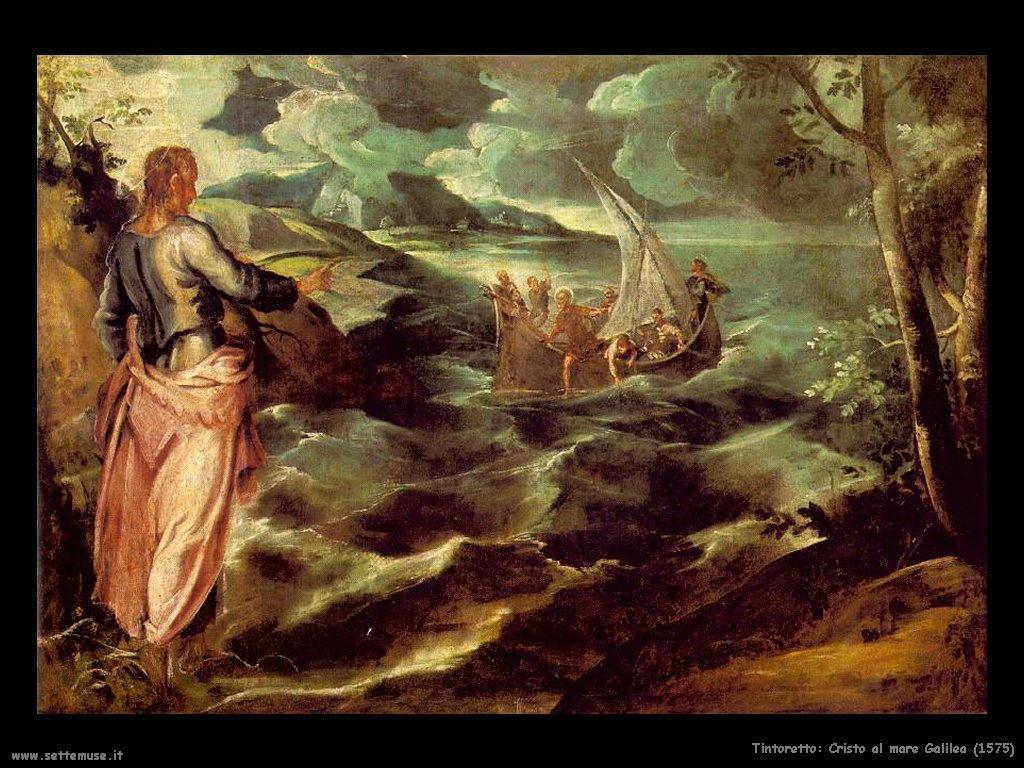 Tintoretto Cristo al mare di Galilea (1575)