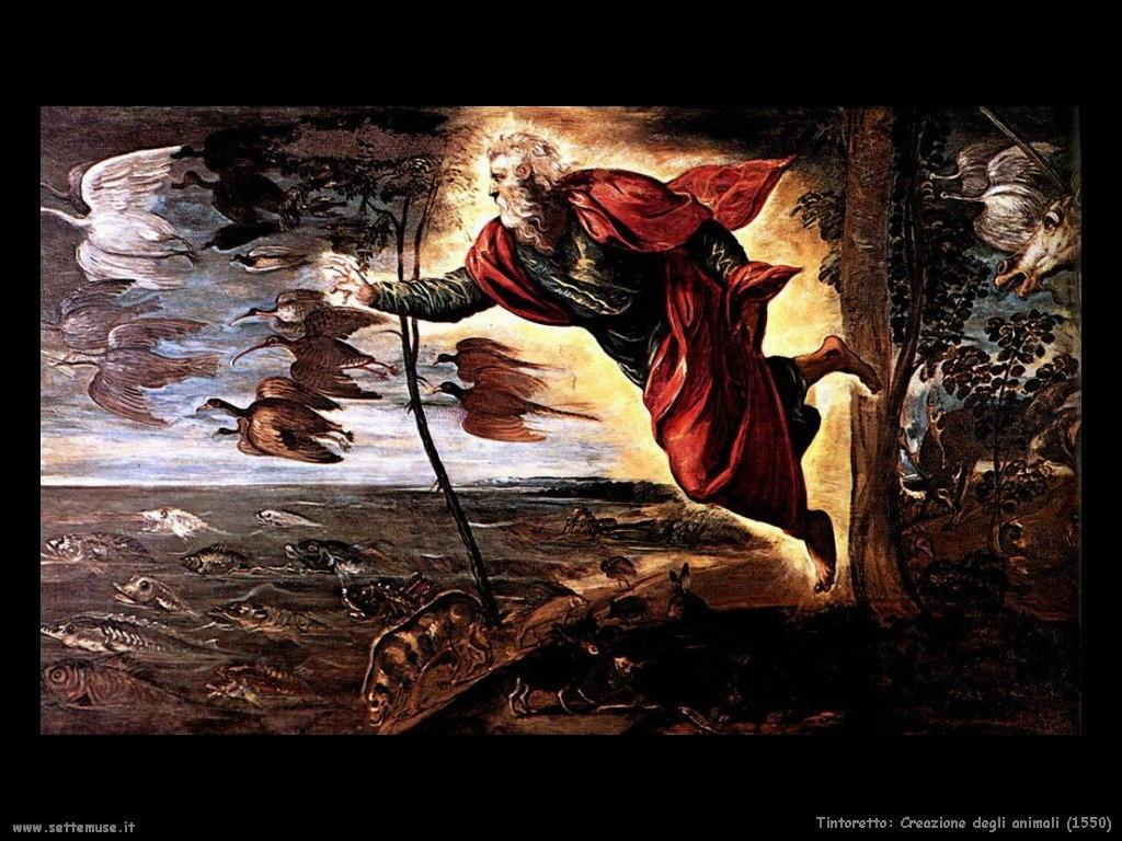 Tintoretto Creazione degli animali (1550)