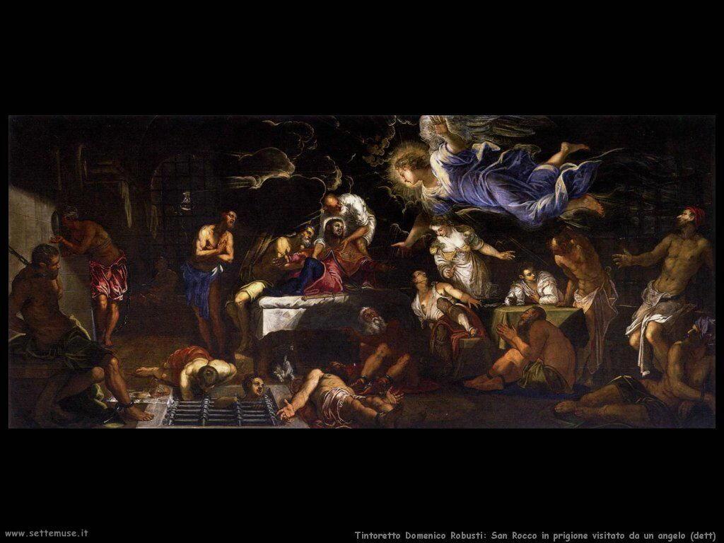 San Rocco in prigione visitato da un angelo