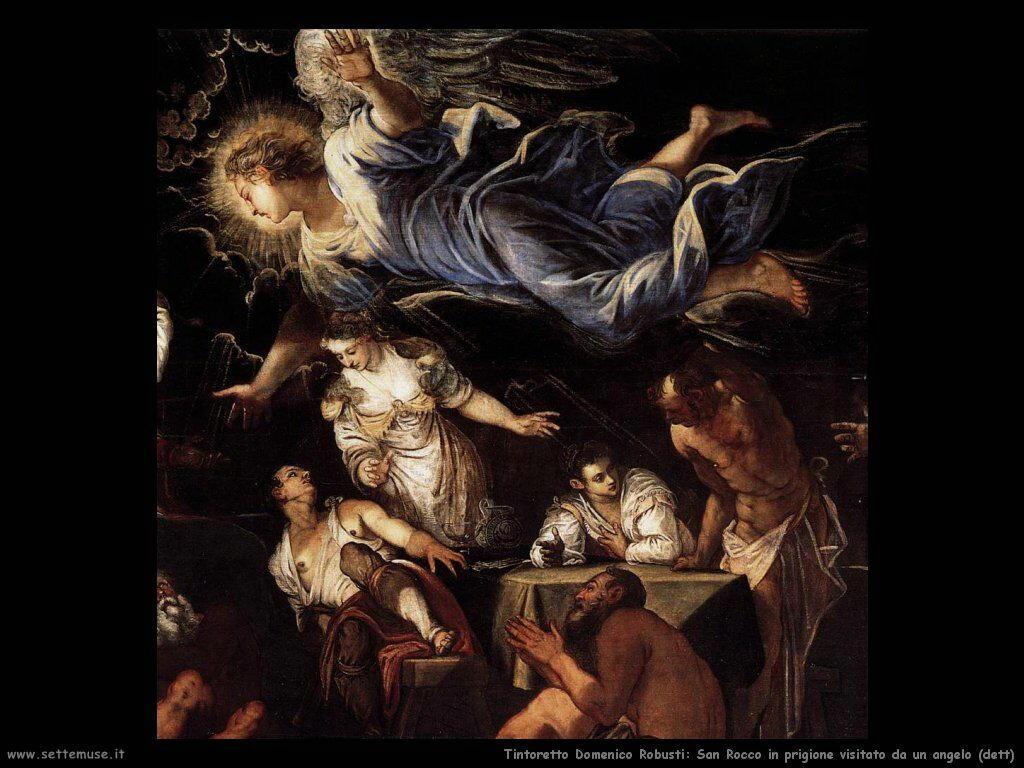 San Rocco in prigione visitato da un angelo (dett)