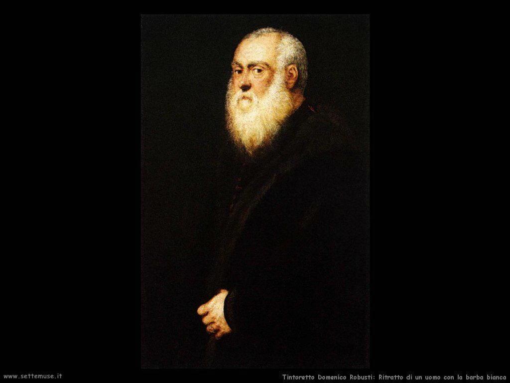 Ritratto di uomo con barba bianca