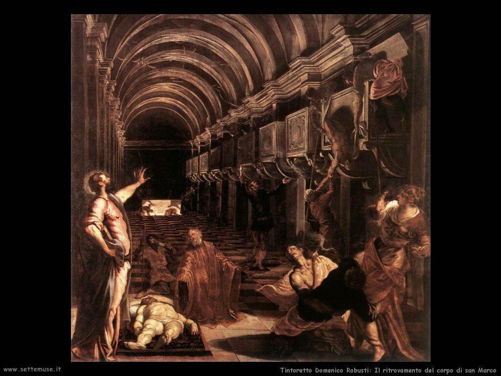 La scoperta del corpo di san Marco