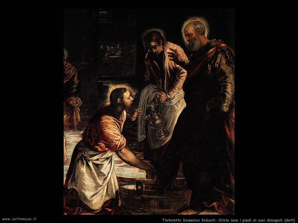 Cristo lava i piedi ai discepoli (dett)