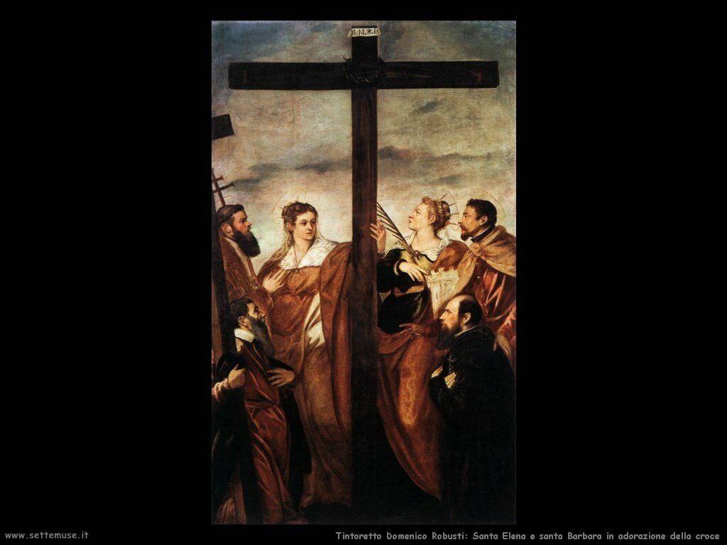 Sant'Elena e Barbara adorano la croce