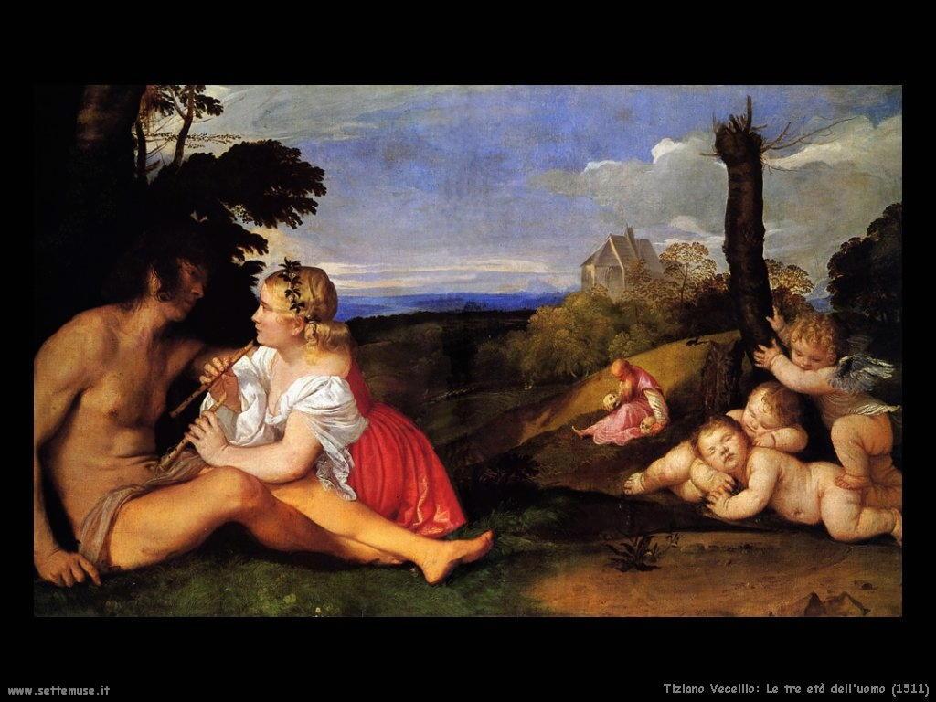 Tiziano Vecellio Le tre età dell'uomo (1511)
