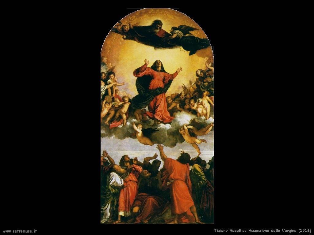 Tiziano Vecellio Assunzione della Vergine (1516)